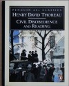 Civil Disobedience and Reading - Henry David Thoreau, Michael Meyer