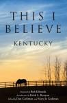 This I Believe: Kentucky - Dan Gediman