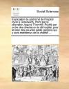 Explication du plat-fond de l'hopital royal a Greenwich. Peint par le chevalier Jaques Thornhill. Publi par ordre des directeurs du dit hopital, pour le bien des pauvres petits gar ons qui y sont entretenus de la charit ... - Various