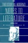 Notes to Literature, Volume 2 - Theodor W. Adorno, Rolf Tiedemann, Shierry Weber Nicholsen, Shierry Weber Nicholson