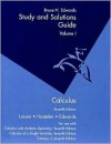 Study and Solutions Guide Volume 1 Calculus - Bruce H. Edwards, Ron Larson