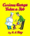Curious George Takes a Job Book & Cassette - H.A. Rey