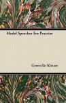 Model Speeches for Practise - Grenville Kleiser