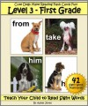 Level 3 - First Grade: Cute Dogs Make Reading Flash Cards Fun! (Teach Your Child to Read Sight Words) - Adele Jones