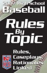 Rules By Topic: Baseball 2008 - National Federation of State High School Associations