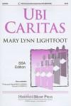 Ubi Caritas: SSA Edition - Mary Lynn Lightfoot