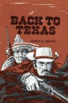 Back to Texas - Owen G. Irons