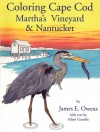Coloring Cape Cod Martha's Vineyard & Nantucket - James E. Owens, James E. Owens, Adam Gamble