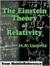 The Einstein Theory of Relativity - Hendrik Antoon Lorentz