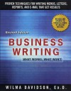 Business Writing: What Works, What Won't - Wilma Davidson, Janet Emig