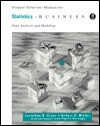 Student Solutions Manual for Cryer/Miller's Statistics for Business, 2nd - Cryer, Robert Miller, Phyllis Barnidge, Cryer
