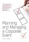 Planning & Managing a Corporate Event - Karen Lindsey