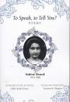 To Speak, to Tell You? - Sabine Sicaud, Norman R. Shapiro