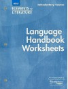 Language Handbook Worksheets - Introductory Course (Holt Elements of Literature) - Holt Rinehart