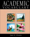 Academic Vocabulary: Academic Words - Amy E. Olsen