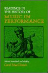 Readings in the History of Music in Performance - Jennifer Cross