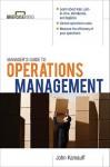 Manager's Guide to Operations Management - Kamauff John, Kamauff John