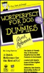 WordPerfect for DOS for Dummies: Quick Reference - Greg Harvey, Dan Gookin