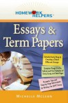 Homework Helpers: Essays & Term Papers (Homework Helpers (Career Press)) - Michelle McLean
