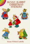 Bunny Rabbit Christmas Stickers - Susan Whited LaBelle