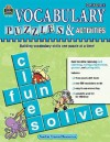 Vocabulary Puzzles & Activities, Grade 4 - Teacher Created Resources, Nancy Sibtain