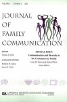 Journal of Family Communication, Volume 3: Communication and Diversity in the Contemporary Family, Number 4 - Lynn H. Turner, Richard West