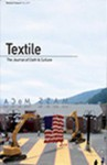 Textile Volume 5 Issue 3: The Journal of Cloth and Culture - Pennina Barnett, Doran Ross
