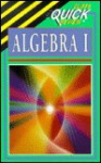Cliffsquickreview Algebra 1 (Cliff's Quick Review) - Jerry Bobrow, CliffsNotes