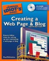 The Complete Idiot's Guide to Creating a Web Page & Blog, 6E - Paul McFedries