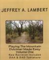 Playing The Mountain Dulcimer Made Easy Vol I - Jeffrey Lambert