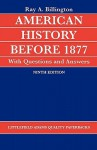 American History Before 1877 with Questions and Answers - Ray Allen Billington