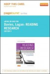 Reading Research - Pageburst E-Book on Kno (Retail Access Card): A User-Friendly Guide for Health Professionals - Barbara Davies, Jo Logan