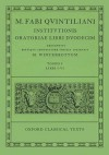 Institutionis Oratoriae: Volume I: Books I-VI. - Marcus Fabius Quintilianus, Michael Winterbottom