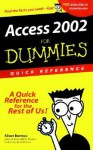 Access 2002 For Dummies Quick Reference - Alison Barrows