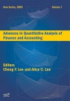 Advances in Quantitative Analysis of Finance and Accounting, Volume 7 - Cheng-Few Lee, Alice C. Lee