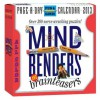 Mind Benders and Brainteasers 2013 Page-A-Day Calendar - Scott Kim