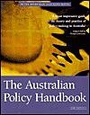Australian Policy Handbook - Peter Bridgman, Glyn Davis