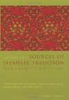 Sources of Japanese Tradition, Volume One: From Earliest Times to 1600 - Donald Keene, William Theodore de Bary, George J. Tanabe