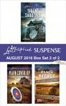 Harlequin Love Inspired Suspense August 2016 - Box Set 2 of 2: Silent SabotagePlain Cover-UpRanch Refuge (First Responders) - Susan Sleeman, Alison Stone, Virginia Vaughan