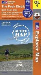 Map: The Peak District Dark Peak Area - NOT A BOOK