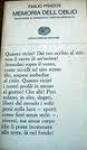 Memoria dell'oblio - Emilio Prados, Francesco Tentori Montalto