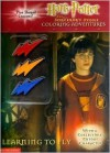 Harry Potter and the Sorcerer's Stone Coloring Adventures: Learning to Fly (With a Collectible Cutout Character and Lightning Bolt Shaped Crayons) - Liza Baker