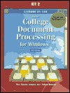 Gregg College Document Processing for Windows: Lessons 61-120 for Use With Wordperfect 7.0 - Scot Ober, Jack E. Johnson, Robert N. Hanson