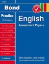 Bond English Assessment Papers 5-6 Years - Sarah Lindsay