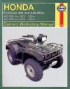 Honda Foreman 400/450 ATVs 1995 Thru 2002 - Alan Ahlstrand