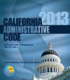 2013 California Administrative Code, Title 24 Part 1 - International Code Council