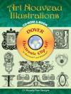 Art Nouveau Illustrations CD-ROM and Book - Edmund V. Gillon