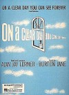 On a Clear Day You Can See Forever - Hal Leonard Publishing Company, Alan Jay Lerner, Burton Lane