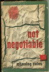 Not Negotiable - Manning Coles
