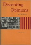 Dissenting Opinions - Page Smith
